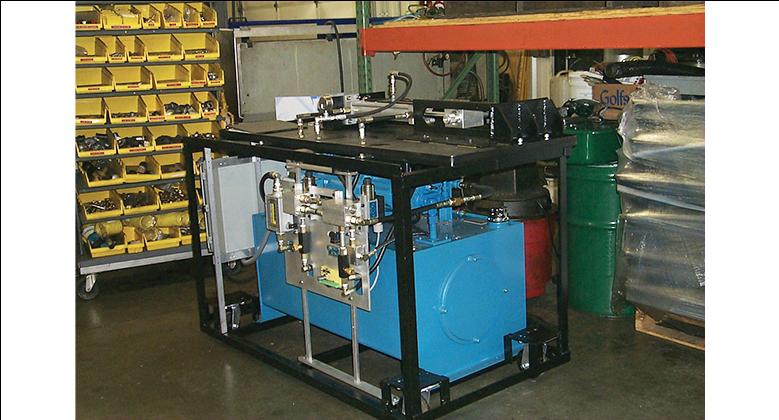 Hydraulic test station